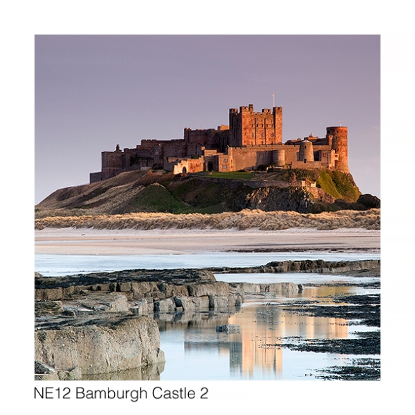 NE12 Bamburgh Castle reflection web 4119
